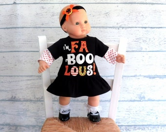 Bitty Baby Halloween Dress with Headband Bow, Bitty Twin Doll Dress