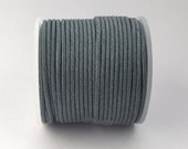 25 Meters of Round Wax Cotton Cord - Zinc 1.5mm (610)