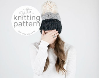 Pattern / Ozetta Ombré Knit Hat Pattern Instant Download For The Breck