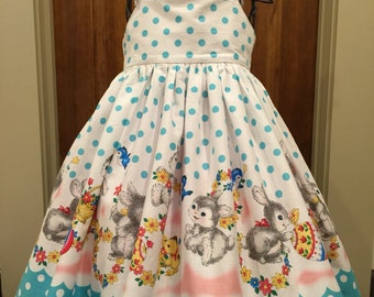 Girls Easter Bunny Dress Easter Dress size  4