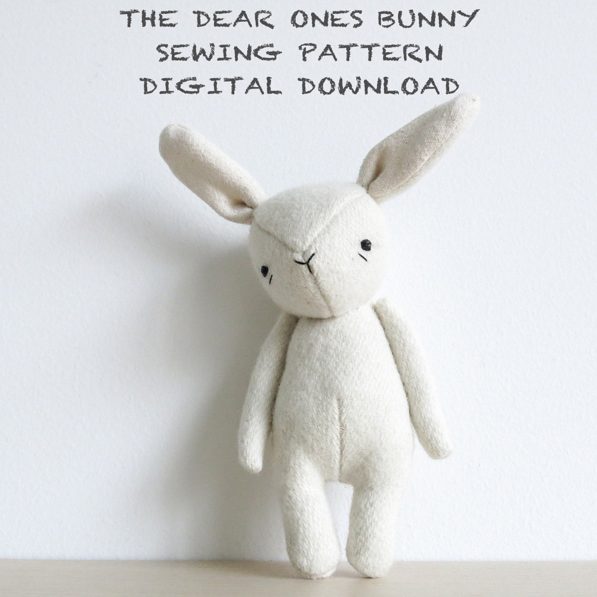 bunny template for sewing - sewing pattern the dear ones bunny soft toy pdf pattern