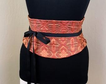 Cross Corset Autumn Colors Waist Cincher Belt Any Size