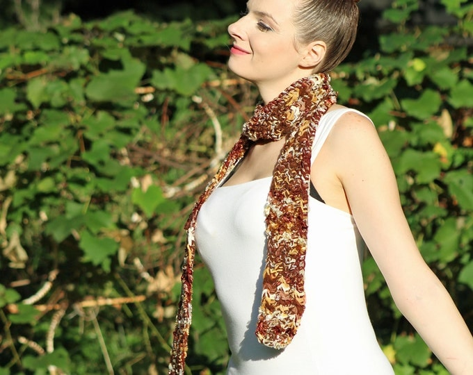 Earthy Brown Scarf Long and Soft Gift for Men and Women