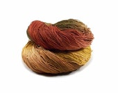 300 Yards Hand Dyed Cotton Crochet Thread Size 10 3 Ply Specialty Thread  Dark Yellow Light Brown Rust Bronze Hand Painted Fine Cotton Yarn