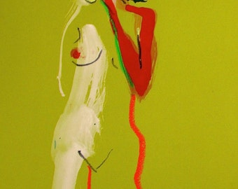 Nude painting of One minute pose 92.1 Original painting by Gretchen Kelly