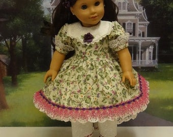 Blackberry Briar - Victorian dress for American Girl doll with undergarments  **Sale**