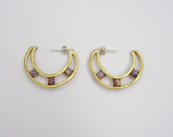 Opal Dew Drop Hoops