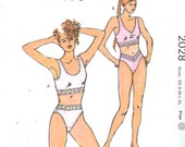 Kwik Sew 2028  Misses Lingerie Pattern Camisole Bra and Panties Pattern Womens Vintage  Sewing Pattern Size XS  S M L XL Bust 31 - 45 UNCUT