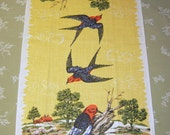 Vintage Towel Colorful Woodpeckers MWT