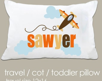 Personalized airplane 3 types of pillow and pillowcase to choose from