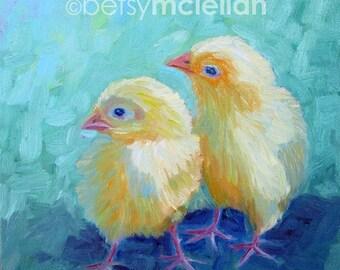 Chicks - Original Painting - 8x8