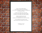 T S Eliot Printable Love Poem 'A Dedication to my Wife' Instant Download Romantic Gift Love Poster Instant Gift Wedding Gift For Wife Print