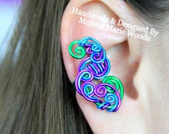 Loop-Tastic Ear Cuff - Peacock