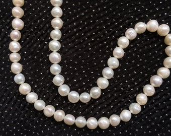 6mm White Freshwater Pearl Necklace  N1