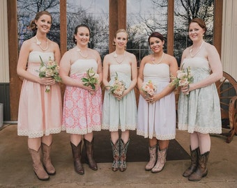 Cotton and Lace Bridesmaid Dresses for Your Wedding in Mix and Match Styles and Colors