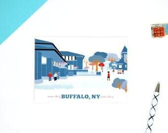 buffalo ny, buffalo, ny, buffalo ny art, parkside buffalo ny, city thank you cards, darwin martin house, frank lloyd wright buffalo usa
