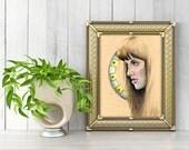 Xena Art, Lucy Lawless Illustration, Female Role Model, Feminist Art, Warrior Woman, Strong Woman Art