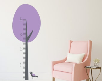Wall Decal - Growth Chart Tree Decal  DB217