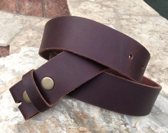Brown Leather Belt Strap