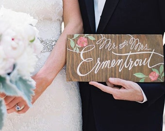 Hand Painted Wooden Wedding Signs