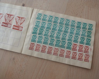Complete booklet of  FRENCH Trading / Saver Stamps Primax for Crafting or Collecting