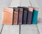"""Slim Leather Wallet, Hand Dyed & Finished // """"slim"""" by fullgive."""
