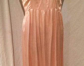 Shabby Chic Pink Silk Gown