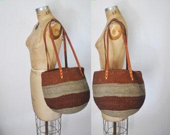 Market Tote / Woven Straw Bag Purse