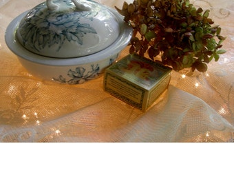 Victorian 3 Piece Soap Dish - Blue And White Porcelain - Farm House