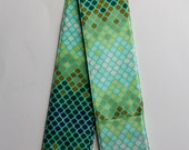 Camera Strap Cover- lens cap pocket and padding included- Mosaic Moss
