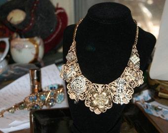statement Necklace/ Diamond Swirl