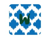 Monogrammed Coasters - Ikat Polka Dot Collection - set of 15
