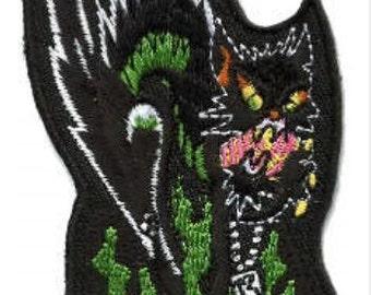 1980s Black Cat on Dice Patch – Biker Halloween