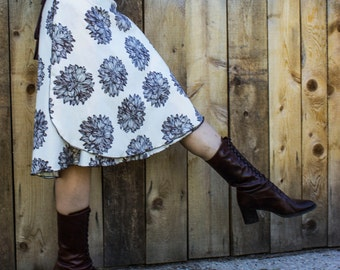 Peony Wrap Skirt - Organic Cotton Sateen - Made to Order
