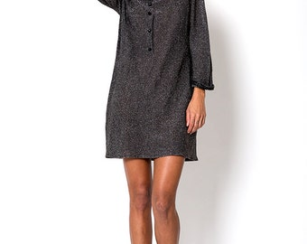 The Charcoal Metallic Glitter New Years Eve Knit Dress