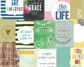 Simply YOU project cards, journaling cards