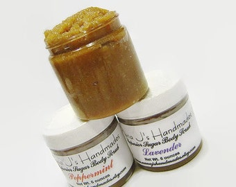 Sugar Body Scrub-Eucalyptus spearmint Essential Oil-6 ounces-Brown Sugar Body Scrub