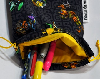 Legend of Zelda Drawstring Pouch or Dice Bag