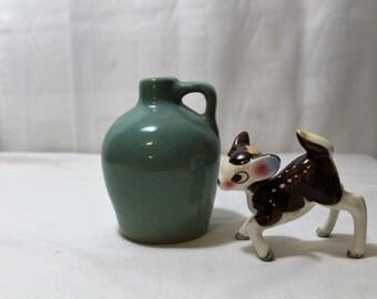SALE Small Blue-Green Pottery Jug