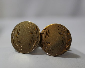 Vintage A&Z 12K G.F. Etched Cuff Links for Men or Women