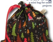 Little Red - Petit Project Bag for Knitting, Crochet, or Embroidery