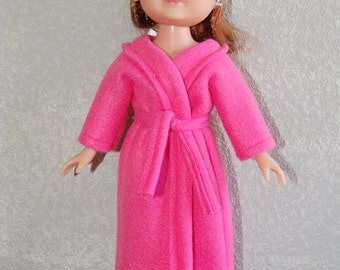 """Pink Robe & Sleep Mask doll clothes for  13"""" Corolle Les Cherie 14"""" H4H Betsy Mccall tkct201"""