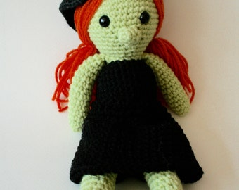 Wicked Witch Cute Crochet Doll