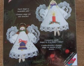 embroidery mini PIN PALS kit ANGELS nip