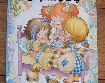 vintage 80s children picture book The Little Girls' Surprise Party