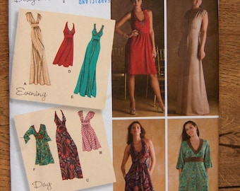 2008 simplicity pattern 3503 misses dress in 2 lengths with bodice variations sz 6-8-10-12-14 uncut