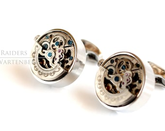 Silver Steampunk Cuff links