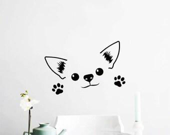 Cute Chihuahua Wall Decal