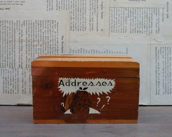 Vintage Cedar Address Box