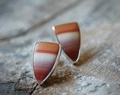 Rustic Ombré Jasper Stud Earrings